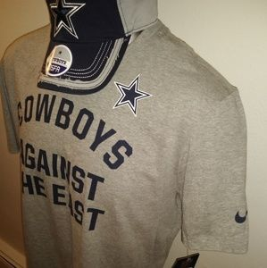 Dallas Cowboys Nike T Shirt & Hat Cap Fan Pack